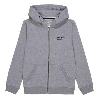 Boys Jack Wills Zip Through Hoodie JWS0082 Grey