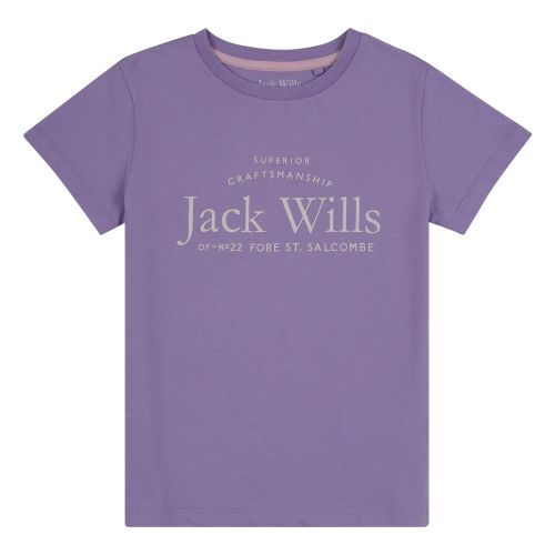 Girls Jack Wills T Shirt JWS5010 Lavender