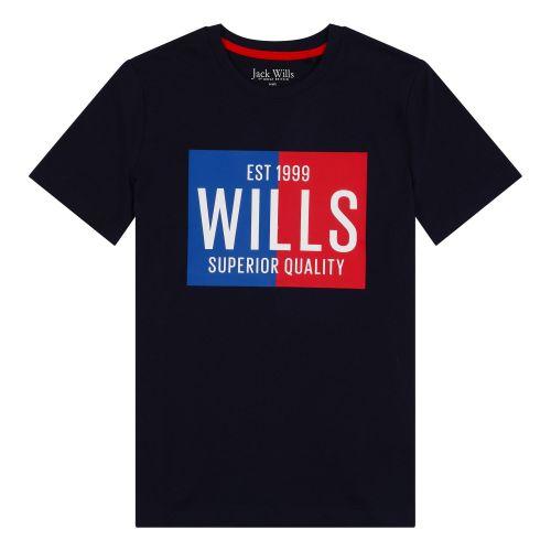 Boys Jack Wills T Shirt JWS0028 Navy