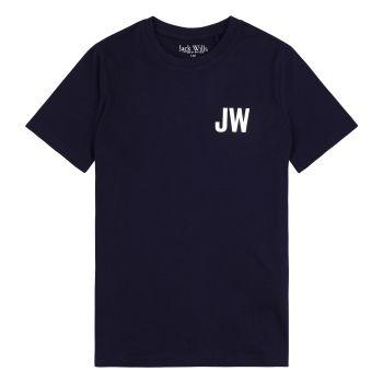 Boys Jack Wills T Shirt JWS0137 Navy