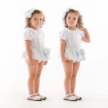 Girls Naxos Blue and White Set 6705