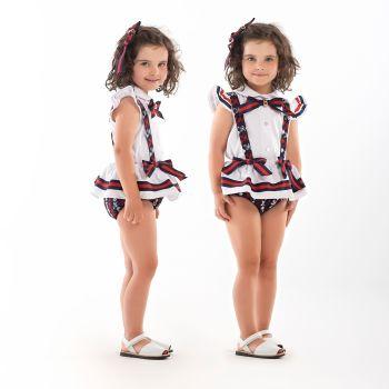 Girls Naxos Navy, Red and White Set 6710