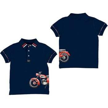 Boys Mayoral Polo Shirt 3108 Navy
