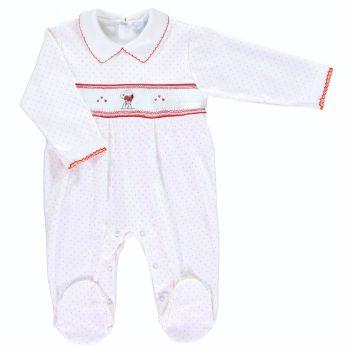 Mini la Mode Smocked Babygrow - Snoopy SLBC03A Red Spots
