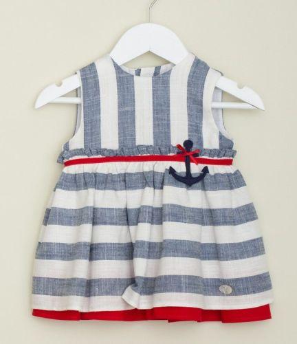 Girls Basmarti Blue, White and Red Dress 21102