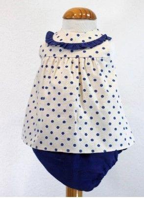 Girls Cuka Blue and Beige Set 88620
