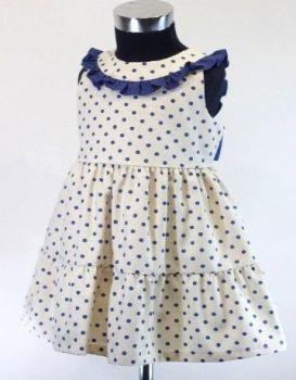 Girls Cuka Blue and Beige Dress 88631