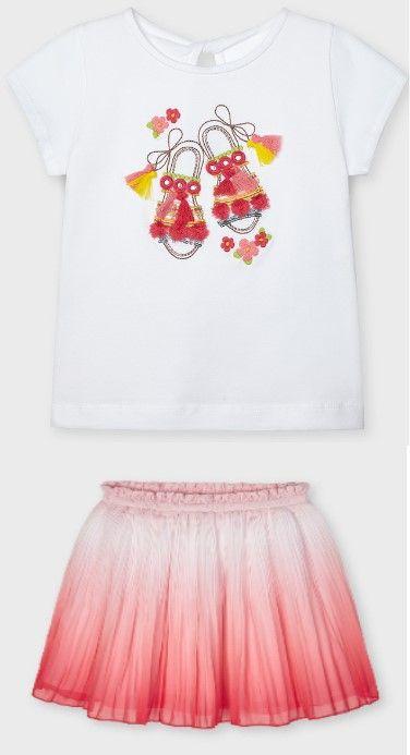 Girls Mayoral Skirt 3907 Flamingo