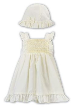 Girls Sarah Louise Dress and Hat 012288 Lemon