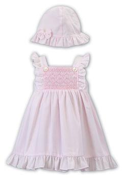 Girls Sarah Louise Dress and Hat 012288 Pink
