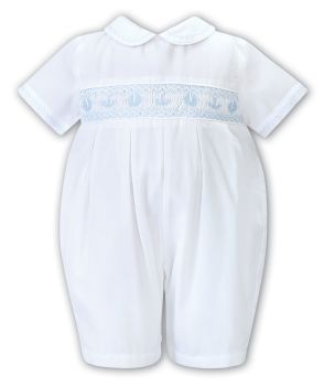 Boys Sarah Louise Outfit 012201 White and Blue