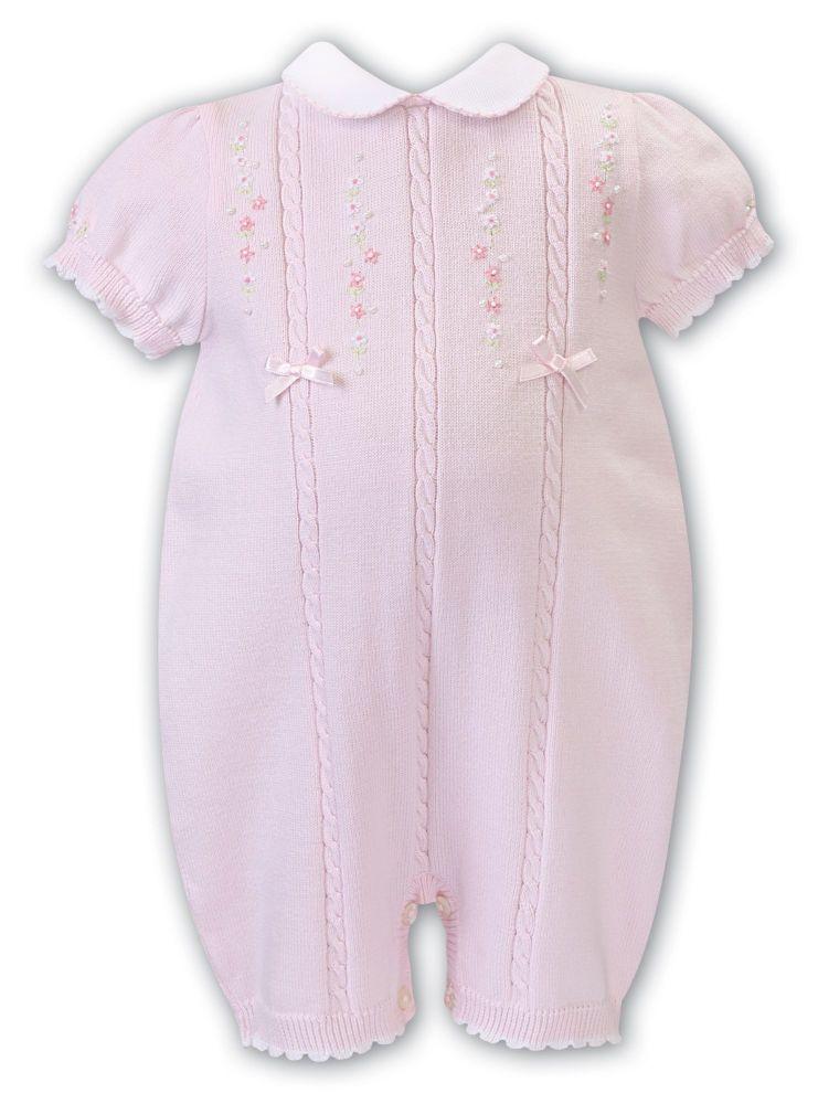 Girls Sarah Louise Romper 008058 Pink