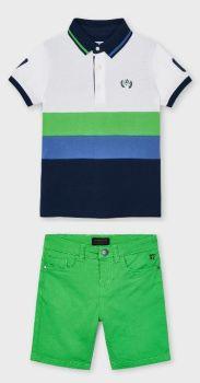 Boys Mayoral Polo Shirt and Shorts 3109 204 Green