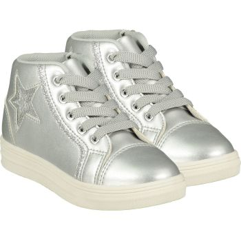 Girls A*Dee Trainers W21501 Silver Star