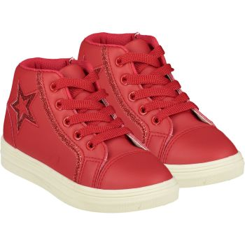 Girls A*Dee Trainers W21501 Red Star