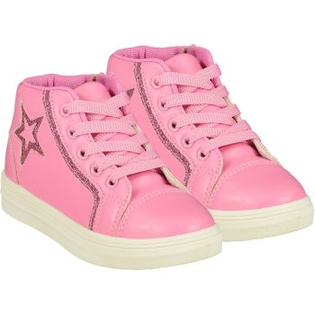 Girls A*Dee Trainers W21501 Pink Star