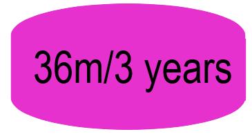 36m/3 years
