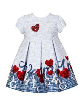 PRE ORDER Girls Balloon Chic Blue Dress 248