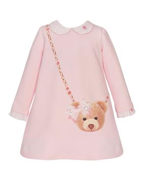 PRE ORDER Girls Balloon Chic Pink Teddy Bear Dress 249