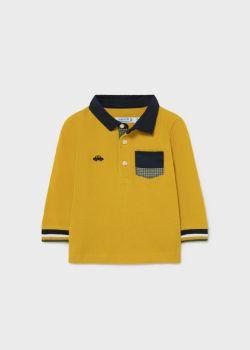 Boys Mayoral Long Sleeve Polo 2139 Gold 51
