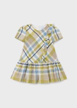 Girls Mayoral Dress 2906 Olive 38