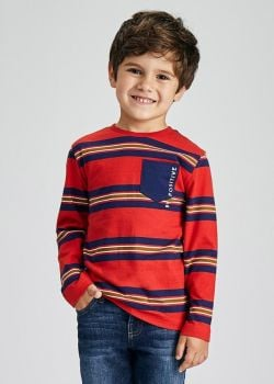Boys Mayoral Long Sleeve Top 4084 Red 27