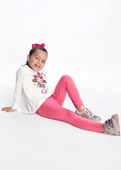 Girls Mayoral Leggings Set 4746 - 3 Pieces Fuscia 10