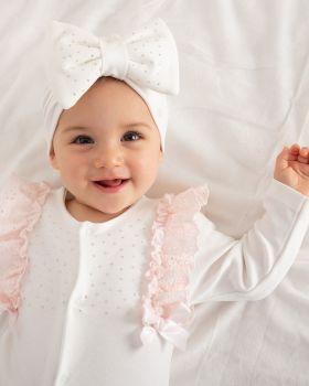 Girls Caramelo Babygrow 101448 Ivory