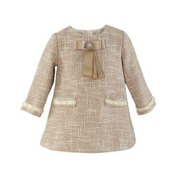 Girls Miranda Beige Dress 129
