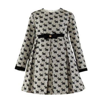 Girls Miranda Black and Cream Dress 332