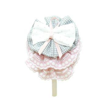 Girls Miranda Grey and Pink Headpiece 267D