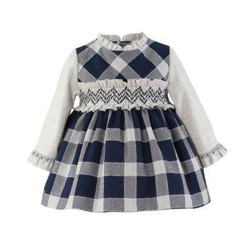 Girls Miranda Navy and White Dress 156