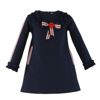PRE ORDER Girls Miranda Navy Dress 263