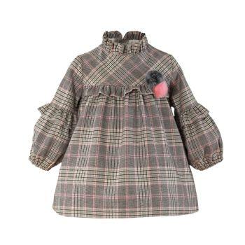 Girls Miranda Pink and Grey Dress 138
