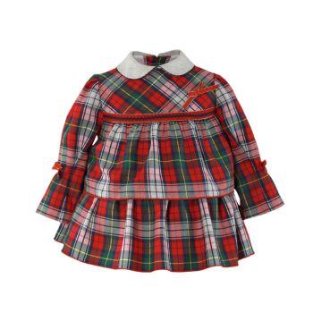 Girls Miranda Red and Grey Tartan Dress 150