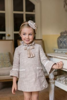 PRE ORDER Girls Miranda Beige Dress 229