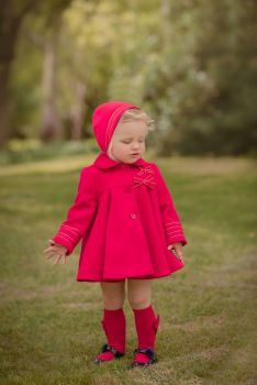 Girls Miranda Red Coat and Bonnet 122
