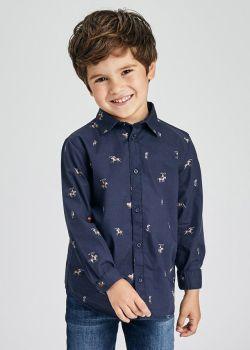 Boys Mayoral Long Sleeve Shirt 4170 Navy 41