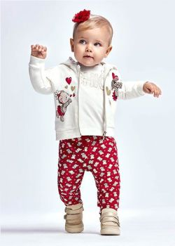 Girls Mayoral Tracksuit 2896 Red 41 - 3 Pieces