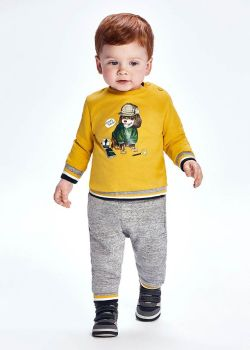 Boys Mayoral Tracksuit 2827 Gold 16 - 3 Pieces