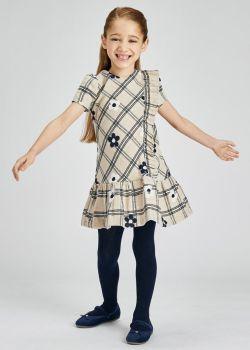 Girls Mayoral Dress 4917 Almond 94