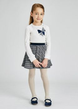 Girls Mayoral Top and Skirt Set 4941 Navy 65