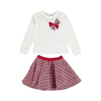 Girls Mayoral Top and Skirt Set 4941 Red 66