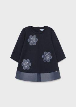Girls Mayoral Dress 2916 Navy 59