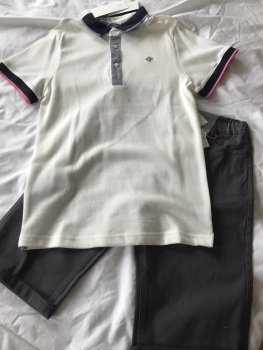 Boys Tutto Piccolo Polo Shirt and Shorts Set 12 Years