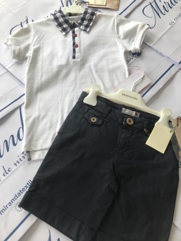 Boys Monnalisa Polo and Shorts Set Age 5 years, Was £121 Now Only £30