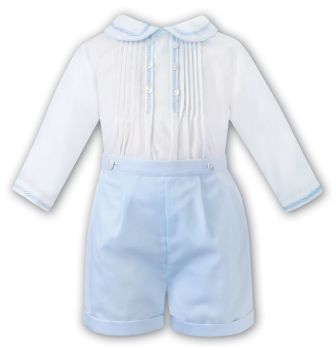 Boys Sarah Louise Outfit 012439 White and Blue