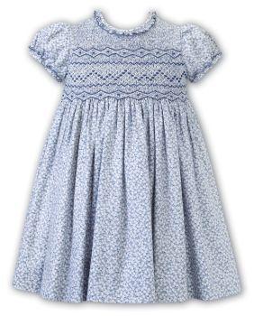 Girls Sarah Louise Dress 012539 Blue