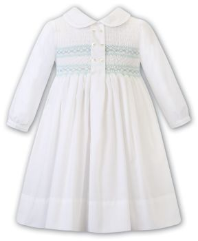Girls Sarah Louise Dress 012482 Ivory and Mint