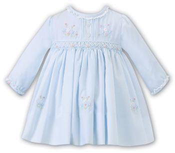 Girls Sarah Louise Dress 012454 Blue